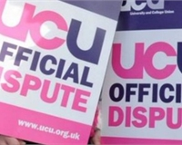 UCU picket line banners